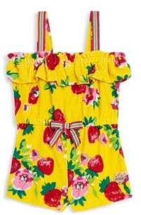 Juicy Couture Little Girl's & Girl's Floral-Print Romper