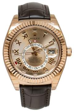 Rolex Sky-Dweller 326135 SNRL Sundust Dial 18K Everose Gold Automatic Men