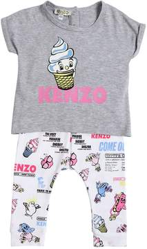 Kenzo Logo Cotton Jersey T-Shirt & Leggings