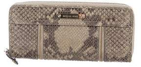 Michael Kors Embossed Leather Wallet - BROWN - STYLE