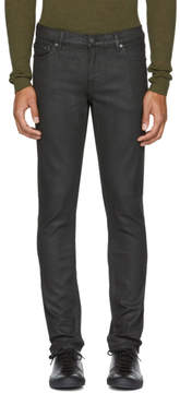 BLK DNM Black Coated Skinny Taper 5 Jeans