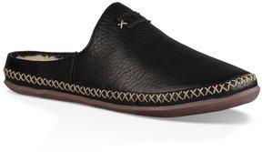 UGG Tamara Leather Decorative Stitching Slip On Open Back Mules