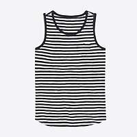 J.Crew Factory Girls' striped heart pocket tank top
