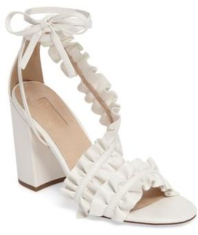 Topshop Women's Real Asymmetrical Ruffled Sandal