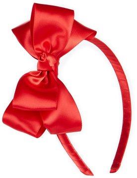 Copper Key Solid Satin Bow Headband