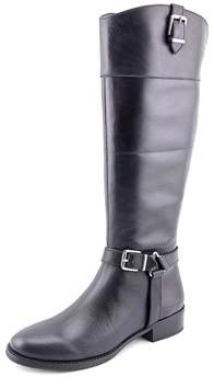 INC International Concepts Fedee Women Round Toe Leather Blue Knee High Boot.