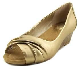 Giani Bernini Rivey Open Toe Synthetic Wedge Sandal.