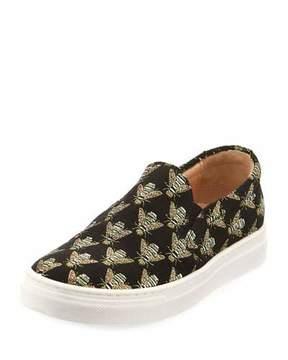 Aquazzura Cosmic Slip-On Bee Sneaker, Infant
