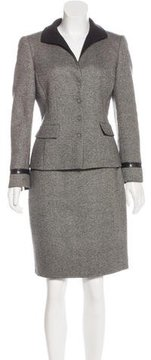 Akris Cashmere & Wool Skirt Suit