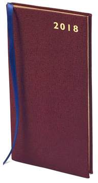 Aspinal of London | Slim Pocket Leather Diary In Burgundy Saffiano | Burgundy saffiano