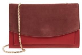Skagen Women's Eryka Leather Wallet On A Chain - Red