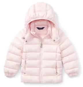 Ralph Lauren Hooded Down Jacket Hint Of Pink 3T