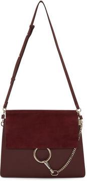 Chloé Burgundy Medium Faye Bag