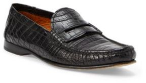 Ralph Lauren Iliana Crocodile Penny Loafer Black 37.5