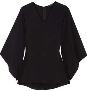 Etro Chiffon Peplum Top - Black