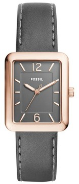 Fossil Women's Atwater Leather Strap Watch, 28Mm