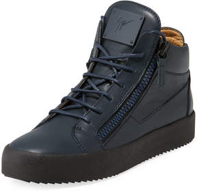 Giuseppe Zanotti Men's Leather High-Top Sneaker