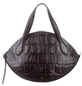 Celine Embossed Small Curved Bag