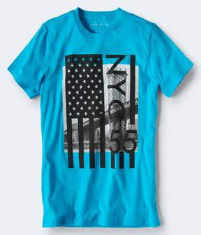 Aeropostale NYC 55 Flag Graphic Tee