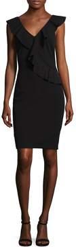 Alexia Admor Women's Ruffle V-Neck Sheath Dress