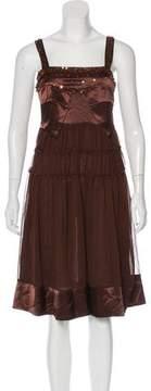 Anna Sui Beaded Crepe Dress