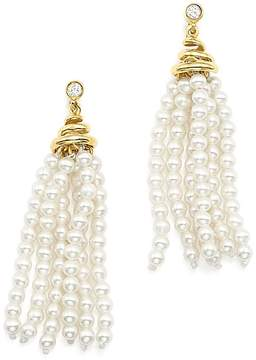 Bloomingdale's Cultured Freshwater Pearl Tassel & Diamond Earrings in 14K Yellow Gold - 100% Exclusive