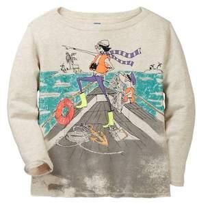 J.Crew J. Crew Olive Boat Sweatshirt (Toddler & Big Girls)