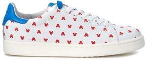 Moa Mini Mickey Mouse White Leather Sneaker