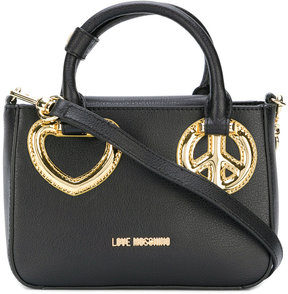 Love Moschino peace and love tote bag