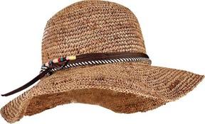 San Diego Hat Company Crochet Raffia Round Crown Floppy Sun Hat RHM6008 (Women's)