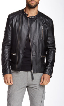 Mackage Ruben Genuine Lamb Leather Moto Jacket
