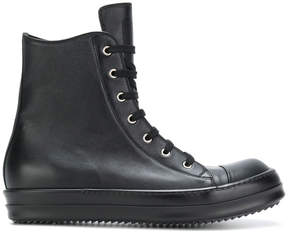 Rick Owens lace up high-top sneakers