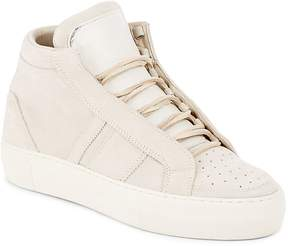 Helmut Lang Women's High-Top Leather Flatform Sneakers