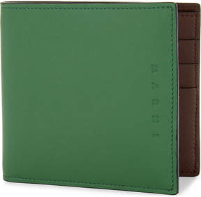 Marni Two-tone bi-fold leather wallet