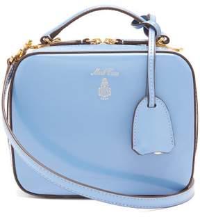 Mark Cross Laura Mini Patent Leather Shoulder Bag - Womens - Light Blue