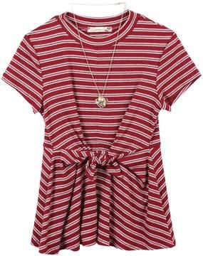 Speechless Girls 7-16 Striped Twist Front Dress