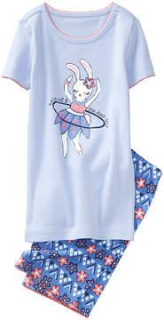 Gymboree Light Blue 'Hula Hop' Bunny Pajama Set - Infant, Toddler & Girls
