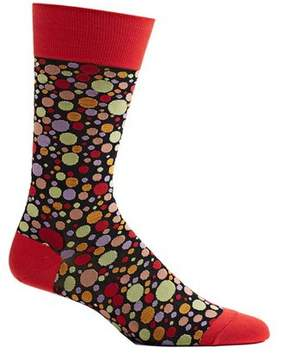 Ozone Men's Dipped Dots Novelty Socks
