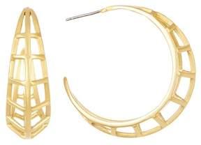 Botkier Open Cage 38mm C-Hoop Earrings