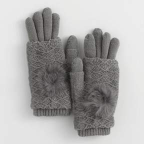 World Market Gray 3 Way Touch Screen Gloves