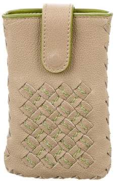 Bottega Veneta Intrecciato Leather Phone Case