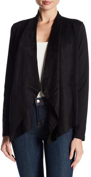 Foxcroft Faux Suede Open Front Cardigan