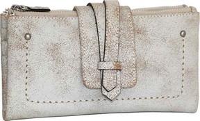 Nino Bossi Crackle Double Zip Wallet (Women's)