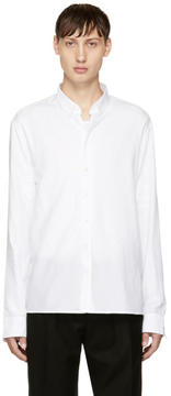 Balmain White Double Weave Shirt