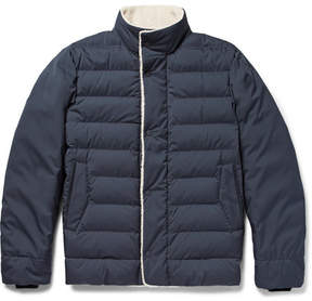 Loro Piana Shearling-Trimmed Quilted Nylon Down Jacket