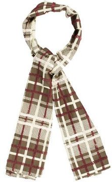 Dries Van Noten Embroidered Plaid Shawl