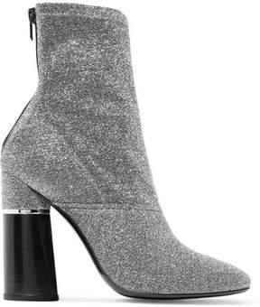 3.1 Phillip Lim Kyoto Metallic Stretch-knit Sock Boots - Silver