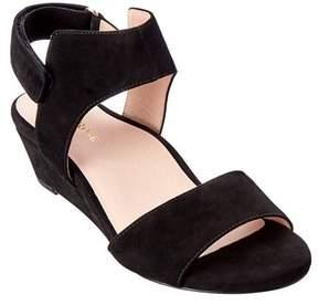 Taryn Rose Shidora Suede Wedge Sandal.