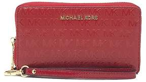 Michael Kors Red Jet Set Travel Leather Smartphone Wristlet - RED - STYLE