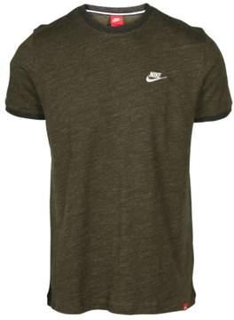 Nike Men's Legasy Knit Sport Casual Top-Khaki Green-Small